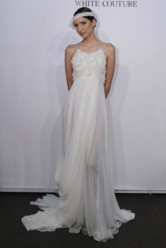 bohemian bridal style Spring 2013 wedding dresses Rafael Cennamo bridal gown 1