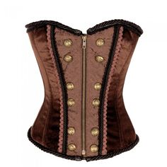 Brown Steampunk Overbust with Center Front Zip