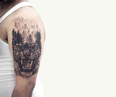 Tatuagens surrealistas de dupla exposição 7
