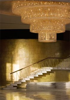 Fontainebleau Miami Beach  The famous staircase to nowhere (couples would take the elevator to the mezzanine just to descend the staircase making a grand entrance -- this was the epitome of the fantasy of Miami Beach; architecture as an amusement park.