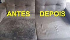 Aprenda como limpar sofás encardidos e com manchas, deixando-os novinhos, utilizando ingredientes que você tem em casa. O resultado é surpreendente, confira