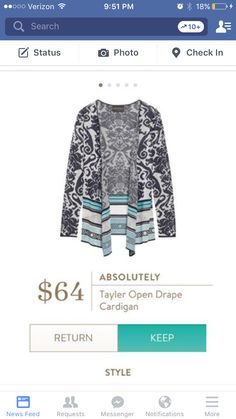 Dear Stylist : I LOVE the colors on this cardigan! It would be perfect all the way through spring! I would love this in my birthday fix if possible