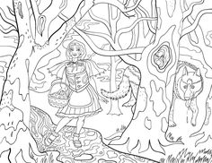 free printable little red riding hood adult coloring page download it in pdf format at