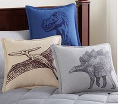 Dino Jackson Decorative Shams #pbkids Find a cheaper way to accomplish this. Screen prints on pillows?