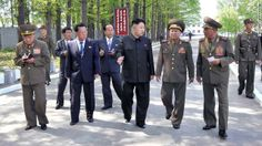 North Korean leader Kim Jong Un inspects a military factory in this undated picture released by the Korean Central News Agency on Friday, May 17, 2013. North Korea launched several short-range guided missiles into the sea off the Korean Peninsula's east coast May 18, South Korea's semi-official news agency Yonhap cited the South Korean Defense Ministry as saying.
