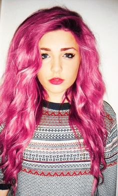 I want to dye my hair pink!! -Fifi Voss