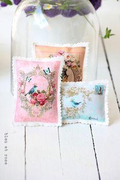 Duftkissen & -säckchen - 3er Set Lavendelkissen / Lavend... - ein Designerstück von bleuetrose bei DaWanda