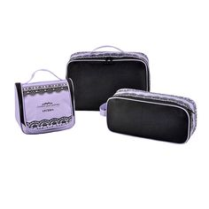 LYCEEM 3 PCS Women's Beauty Toiletry Bag Packing Cube by LYCEEM