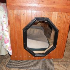 """{Dog Bed} made from wood flooring! Someday maybe we can replace Phoenix's """"box""""."""