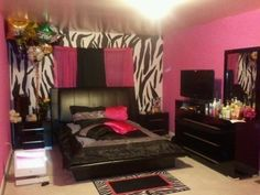 My room needs to look this way ASAP! Dream Rooms, Dream Bedroom, Girls Bedroom, Bedroom Decor, Bedroom Ideas, Bedrooms, Bedroom Stuff, Bedroom Designs, Zebra Print Rooms