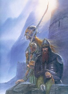 Legolas and Gimli - John Howe