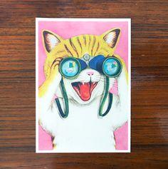 KITES! Fun vintage vibes in these animalistic greeting cards by Napa Agency's illustartor Pauliina Mäkelä for Karto!