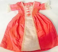 American Girl Doll Elizabeth Coral Pink Meet Gown and Shoes | eBay