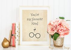 Nerdy Gifts Harry Potter You're My от MagicPrintableDesign на Etsy