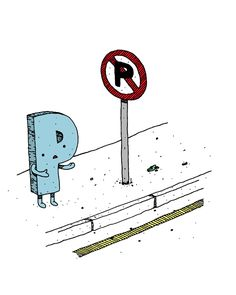 No P  - illustration by Jaco Haasbroek