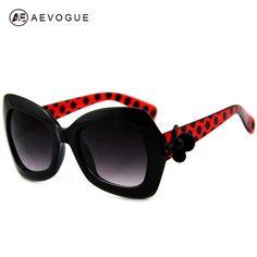 AEVOGUE Newest Brand Design Popular Flower Decoration Sunglasses Women Big Frame Sun Glasses Oculos De Sol UV400 AE0027