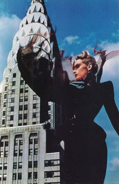 Probably Thierry Mugler, 1980s...