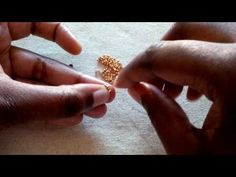 Beading techniques and tips #5: Quick and easy Beaded Earpost - YouTube