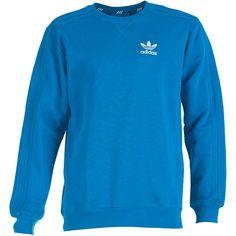adidas Originals Mens Trefoil Crew Neck Sweat Bluebird