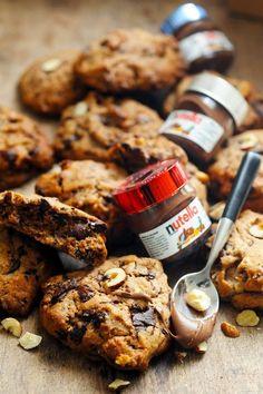 Terrifiants cookies Nutella noisettes chocolat
