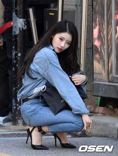 Photo album containing 12 pictures of Mijoo Korean Beauty, Asian Beauty, Beautiful Asian Girls, Beautiful People, Lovelyz Mijoo, K Pop, Sweet Jeans, Korean Celebrities, Korean Model