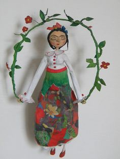Frida.  Papier maché art dolls.