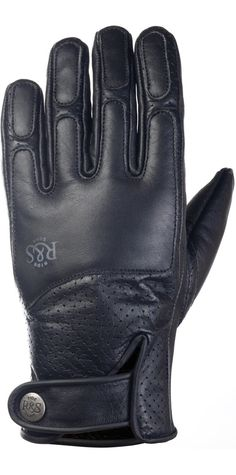 RIDE&SONS Lord Leather Gloves Black