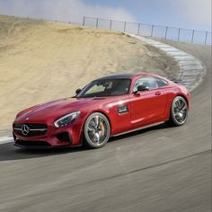 "The loud cry coming from the handcrafted 4.0-liter biturbo V-8 begs the driver to push hard down ""Rahal Straight."" #Mercedes #Benz #MBPressDrive #AMGGT #AMG #Edition1 #LagunaSecaRaceway #LagunaSeca #Video #SanFrancisco #instacar #carsofinstagram #germancars #luxury"