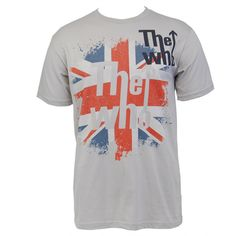 This Men's Slim Tee features The Who's 'Flag' design on the front. Flag Design, Slim Man, Tees, Mens Tops, T Shirt, Store, Music, Check, Fashion