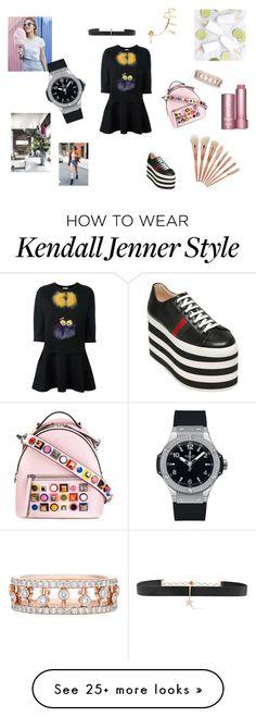 """Fendi addict"" by maria-chamourlidou on Polyvore featuring Fendi, Gucci, Maria Black, Diane Kordas, Hublot and De Beers"
