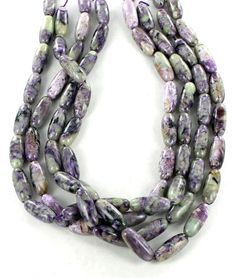 CHAROITE BARREL SHAPED BEADS 20x8.5mm from New World Gems