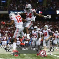 OSU              Alabama  42                      35     FINAL SCORE!