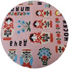 Kokka Japan, Russian Dolls Pink