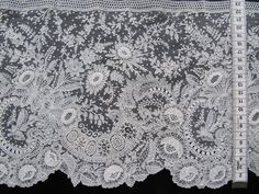 My choice for the best lace from the 10/31/2013 Ebay Alerts. Point de Gaze border.