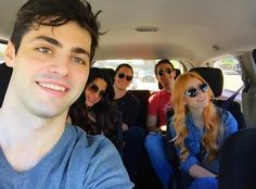 Cast in the car !!