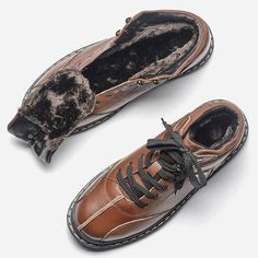 Cheap shoes brand, Buy Quality shoes shoes directly from China shoes winter Suppliers: Natural cow leather Winter boots Size HECRAFTED Brand Ankle 2017 Warm Winter Shoes Mens Snow Boots, Mens Winter Boots, Winter Shoes, Ankle Shoes, Men's Shoes, Shoe Boots, Cow Leather, Leather Shoes, Cowhide Leather