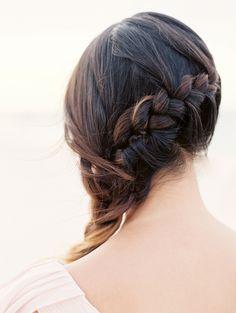 Cute side braid for