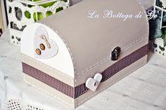 2014 - Bauletto portagioie Cuore e bottoni in legno dipinta a mano - Settembre