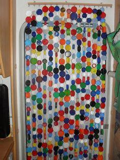 Bottle cap curtain!