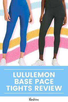 Lululemon's leggings famously get us through all kinds of workouts and their new Base Pace leggings are impressively supportive and comfortable. #Lululemon