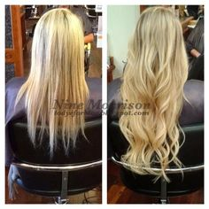 To Dye For. before and after tape extensions Micro Loop Hair Extensions, Tape In Extensions, Good Hair Day, Love Hair, Cool Hairstyles, Hairstyle Ideas, Transformation Tuesday, Damaged Hair, Deco