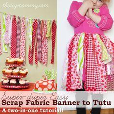 Faça um Scrap Tecido Faixa de Tutu - A One-Two-in-Tutorial