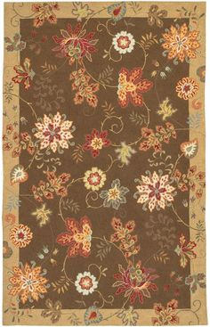 Surya Flor Flor 1 Cream Rug Great for living room with red couches