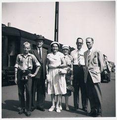Lasse Lindroos, Evert Hermansson, Lyyli, Alma & Jarl Lindroos, Väinö Brinck Suomi Finland 1950s