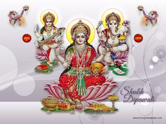FREE Download Saraswati Laxmi Ganesh Wallpapers