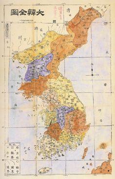 Map of Korea (1907)