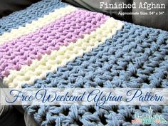 Free Easy Afghan Pattern - Complete it in a weekend
