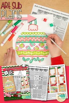 Ideas Holiday Crafts For Kids To Make With Picture Christmas Art Projects, Christmas Crafts For Kids To Make, Christmas Ornament Crafts, Easy Art Projects, Merry Christmas, Art Sub Plans, Art Lesson Plans, Classroom Crafts, Classroom Activities