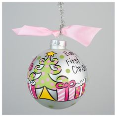 GLORY HAUS Baby Girl's First Christmas | underthecarolinamoon.com
