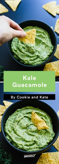 5. Kale Guacamole  #healthy #gameday #recipes http://greatist.com/eat/game-day-recipes-that-wont-leave-you-in-a-food-coma
